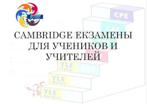 Cambridge іспити для вчителів та учнів. Онлайн семінар.